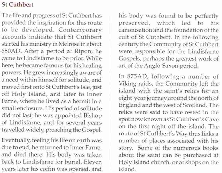 le chemin de saint cuthbert